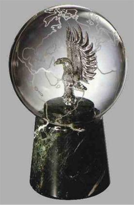 Glass Eagle And Globe Award